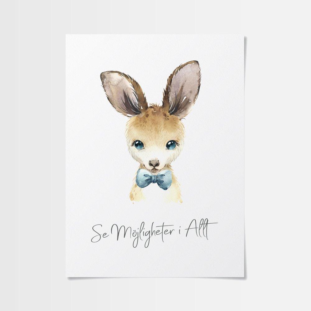 Posters billigt med känguru med fluga
