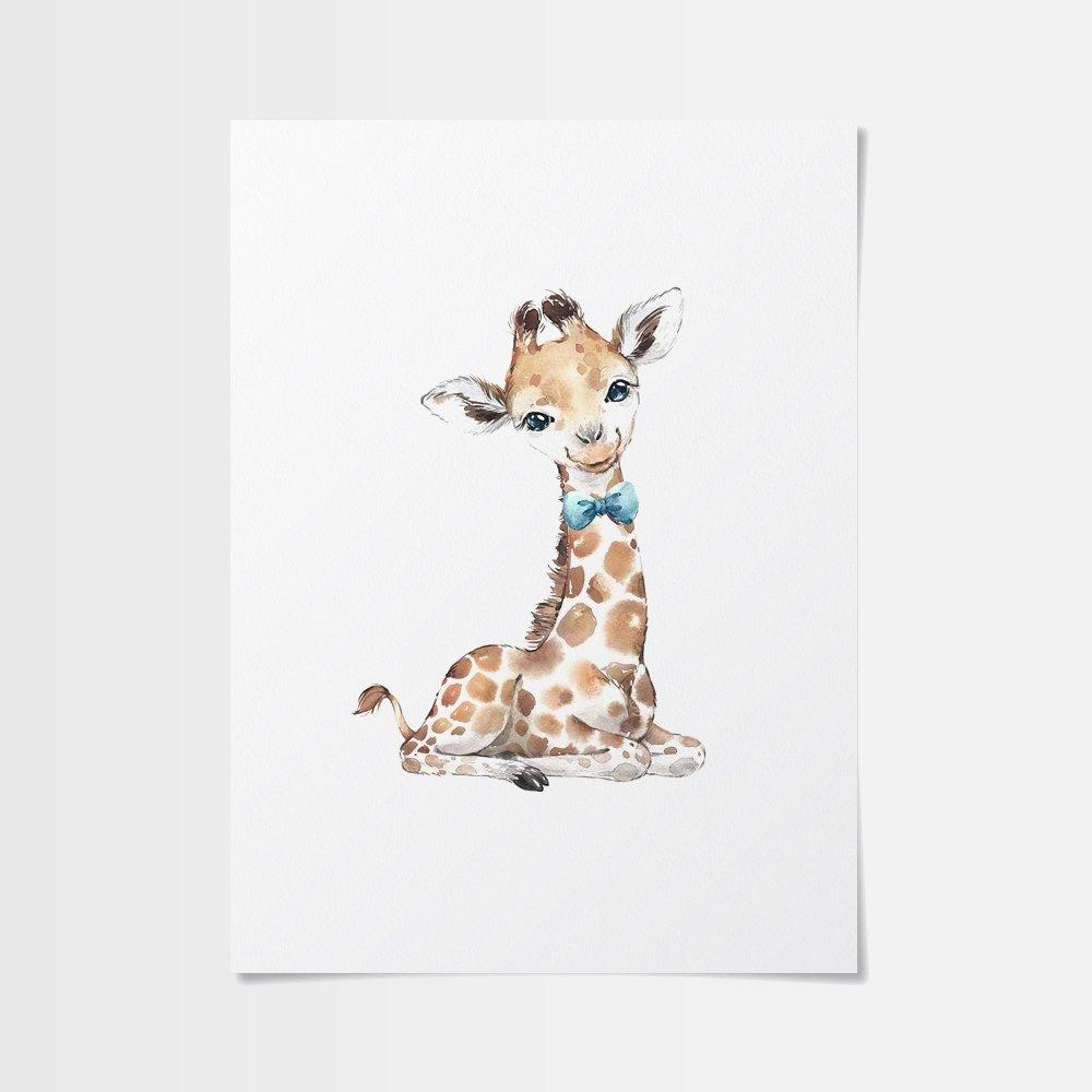 Gulliga barn poster av giraff med fluga