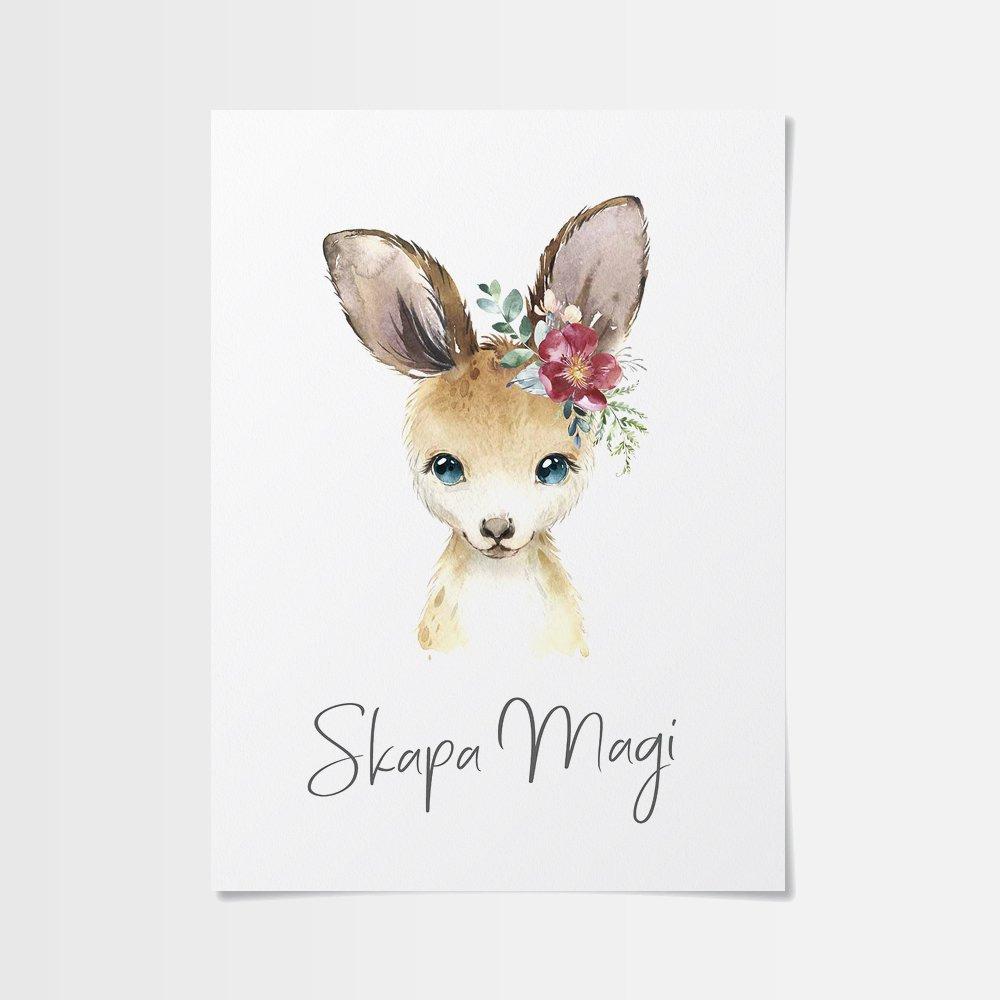Poster online med gullig känguru