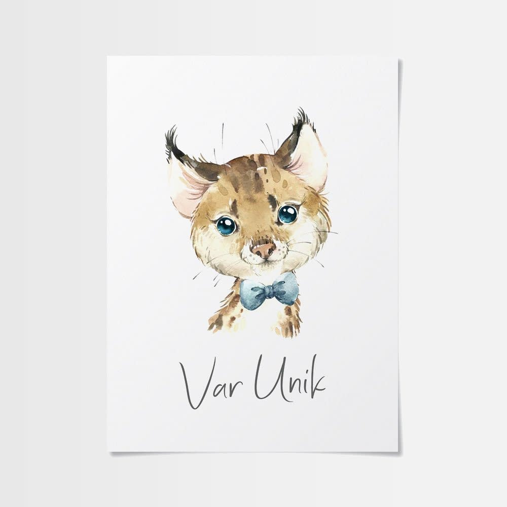 Poster med inspiration av sött lodjur