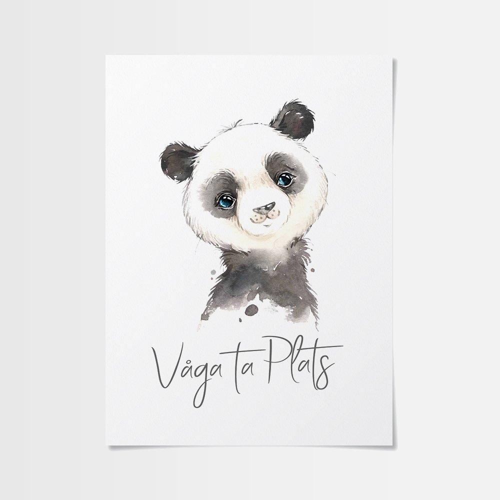 50x70 poster med en underbar panda