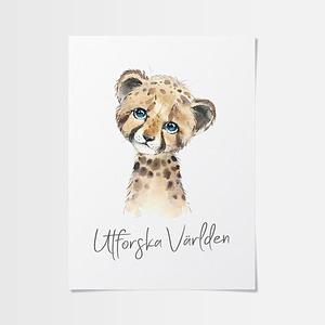 Babyrum inspiration av söt gepard