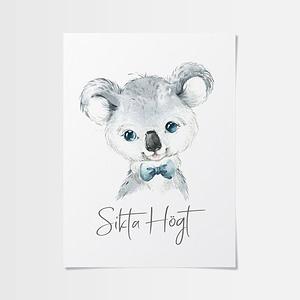 Posters inspiration av underbar koala