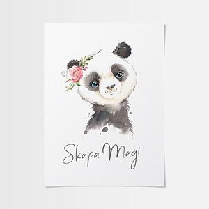 Fina barntavlor med fin panda